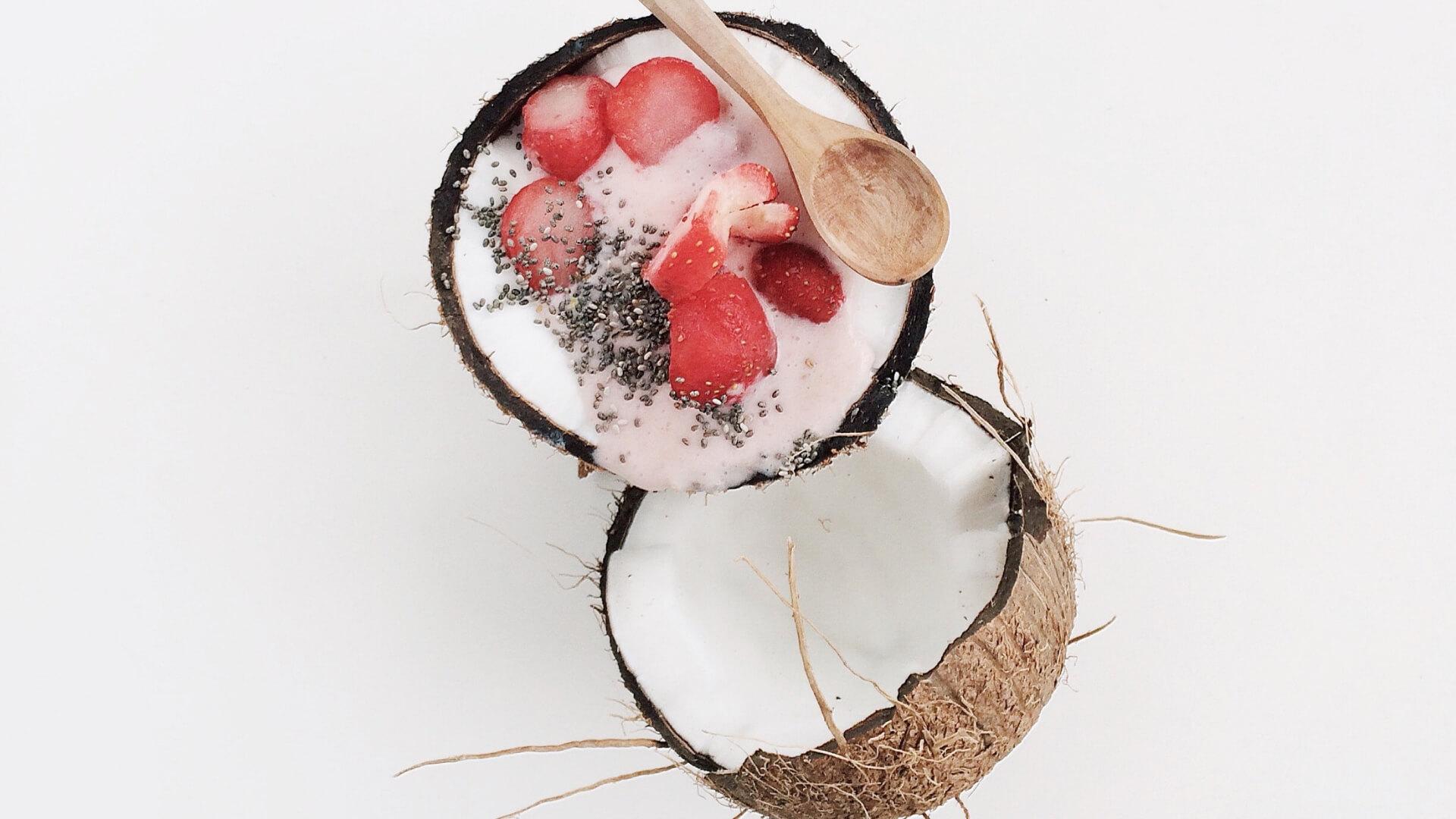 Strawberries & Coconut Cream
