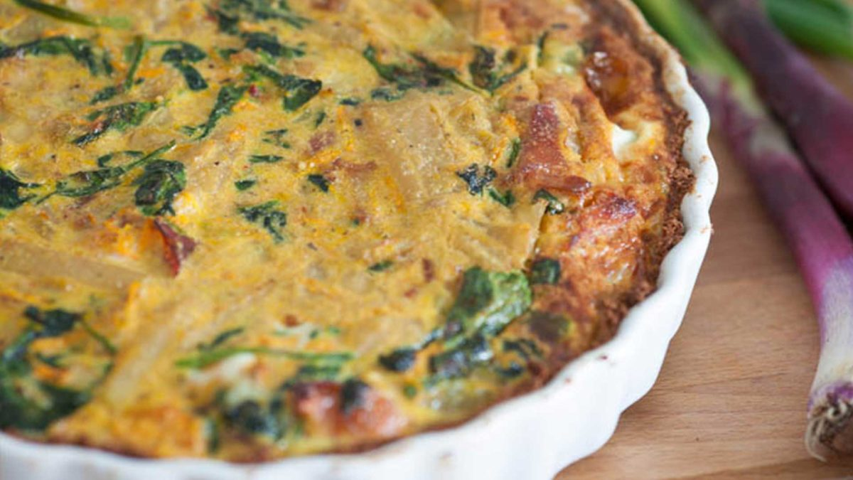 Grain and Dairy-Free Cajun Celeriac Quiche