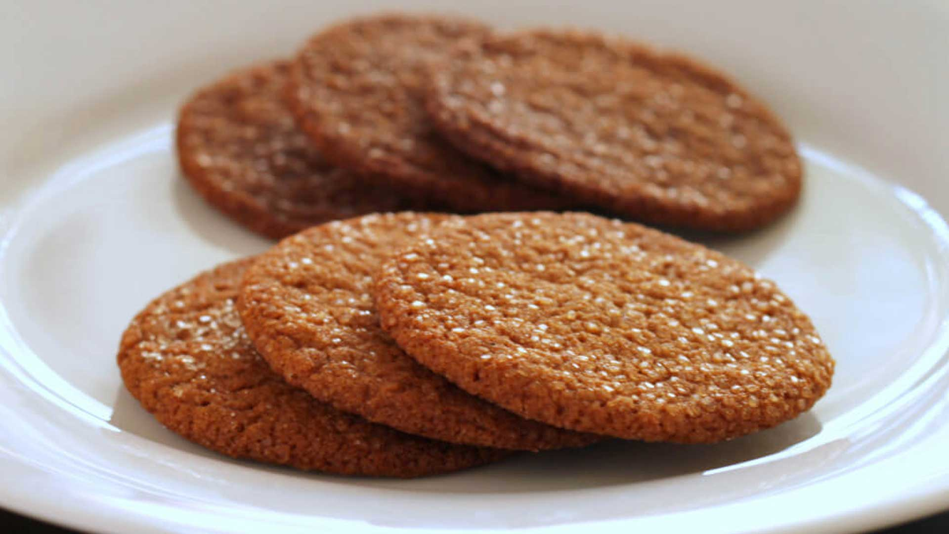 Cassava Flour Gingersnaps - Paleo, Grain, Nut and Dairy-free