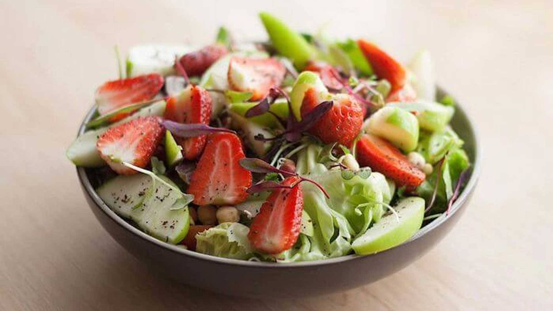 Chicken, Apple and Strawberry Salad