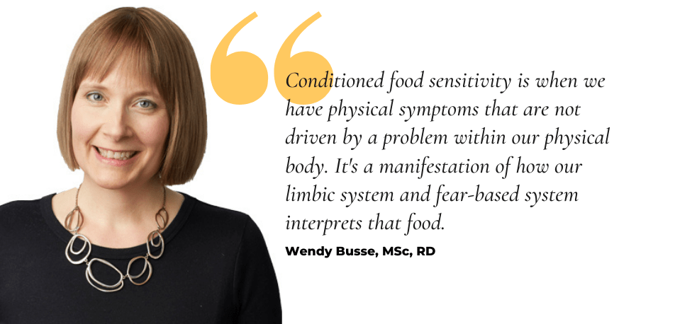 Conditioned food sensitivity with Wendy Busse, MSc, RD